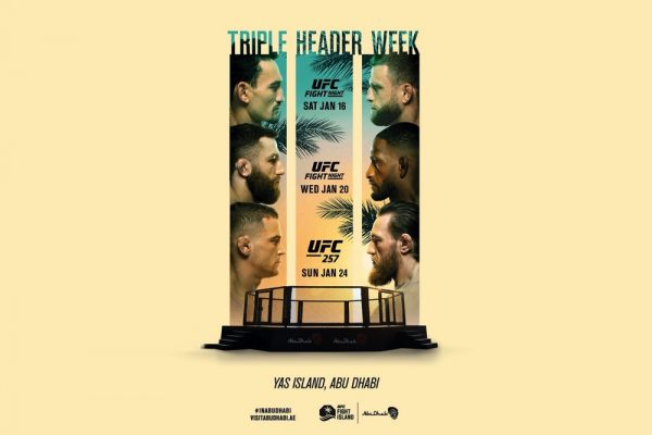 UFC KICKS OFF 2021 WITH FIGHT ISLAND TRIPLE HEADER LIVE FROM ABU DHABI