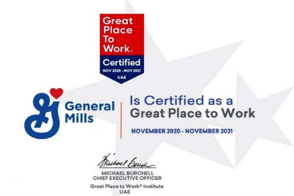General Mills UAE ranked 15th by Great Place